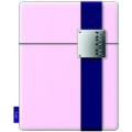 iLuv Textile iPad case with leather band clip (PINK)