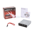 Lite-On Internal SATA DVD Writer - DVD+R 24X, DVD-R 24X, DVD+RW 8X, DVD-RW 6X with Lightscribe