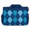 Gear-Up Blue Argyle Messenger/Laptop Bag (Large)